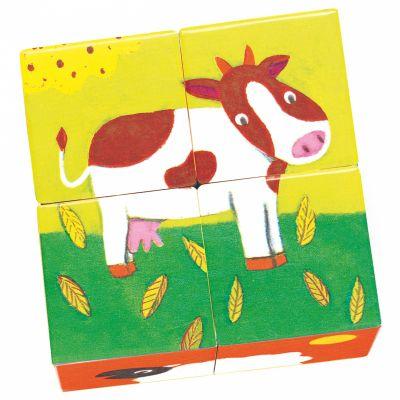 Puzzle cubes Meuh et Co (4 cubes)  par Djeco