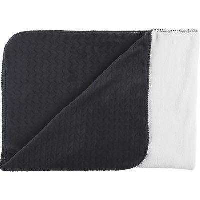 Couverture Groloudoux noir et blanc (100 x 140 cm)  par Noukie's