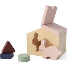 Maison à formes en bois lapin Mrs. Rabbit