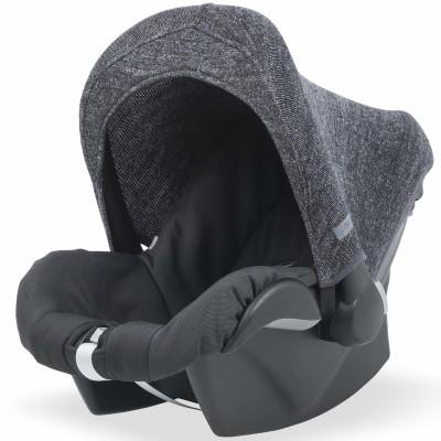 Capote pour maxi cosy Natural knit gris anthracite  par Jollein