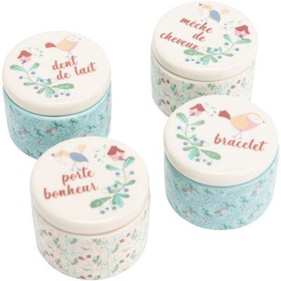 Lot de 4 boîtes à souvenirs bébé Lili  par Amadeus Les Petits