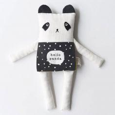 Peluche panda livre bébé Hello panda