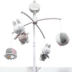 Mobile musical Miffy Rose Velours