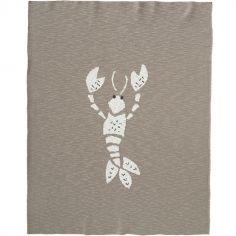Couverture en coton bio homard gris (80 x 100 cm)