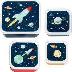 Lot de 4 boîtes à goûter Espace