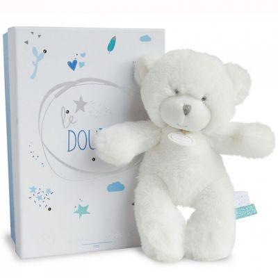 Peluche pantin ours bleu Le Doudou (20 cm) Doudou et Compagnie