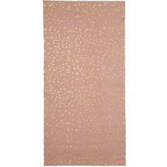 Tapis rose à pois dorés Dottie (70 x 140 cm)