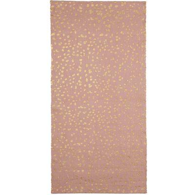 Tapis rose à pois dorés Dottie (70 x 140 cm) Kids Depot