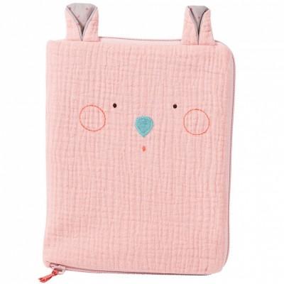 Protège carnet de santé souris rose Les jolis trop beaux  par Moulin Roty