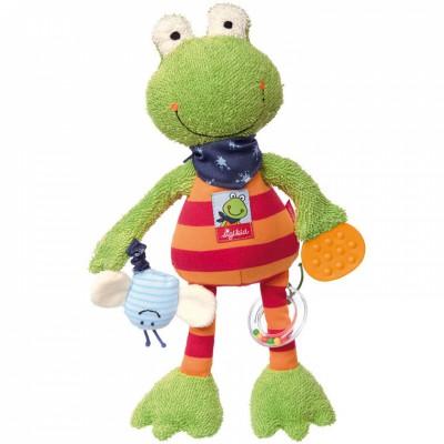 Peluche d'activités Grenouille Folunder Frog (33 cm) Sigikid