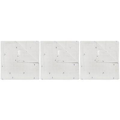 Lot de 3 langes en mousseline Cui Cui (55 x 55 cm)  par Les Rêves d'Anaïs