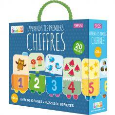 Livre et puzzle Apprends tes premiers chiffres (20 pièces)
