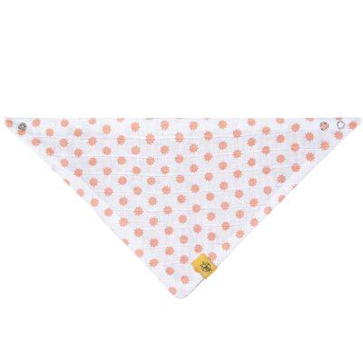 Bavoir bandana Little Chums en mousseline de coton étoiles corail  par Lässig