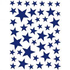 Stickers Etoiles bleu marine