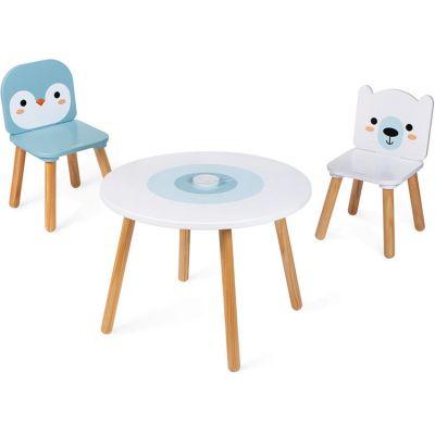 ensemble table et 2 chaises banquise