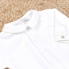 Pyjama léger blanc Linge d'antan (9 mois)