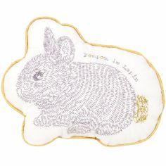 Coussin Pompom le lapin (22 x 17 cm)