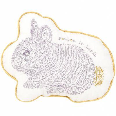 Coussin Pompom le lapin (22 x 17 cm)  par Little Crevette