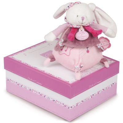 Boîte à musique Cerise rose (17cm)  par Doudou et Compagnie