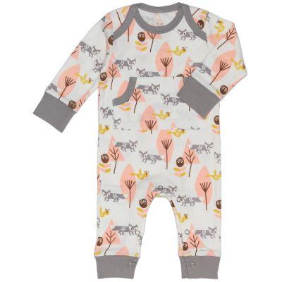 Combinaison pyjama renard rose et gris (naissance : 50 cm)  par Fresk