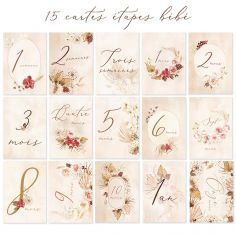 Cartes étapes de bébé Ma première année nude (15 cartes)