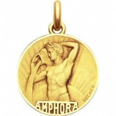 Médaille signe Verseau (or jaune 750°)