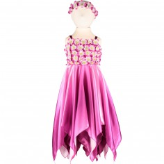Robe de princesse Blossom fairy violette à fleurs (3-5 ans)