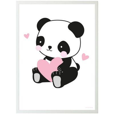 Affiche Panda love (50 x 70 cm)  par A Little Lovely Company