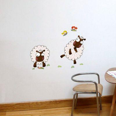 Stickers muraux Les moutons  par Série-Golo