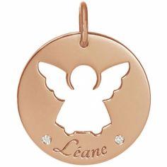 Médaille Léane personnalisable 17,5 mm (or rose 750°)
