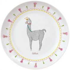 Assiette en porcelaine Lama (personnalisable)