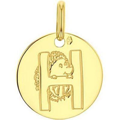Médaille H comme hérisson (or jaune 750°) A.Augis