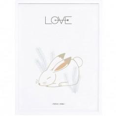 Affiche encadrée Nordic lapin Love (30 x 40 cm)