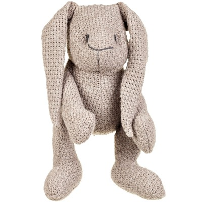 Peluche lapinou Robust Maille taupe (30 cm) Baby's Only