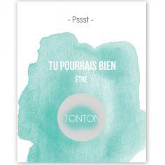 Carte à gratter Annonce de grossesse Aquarelle Tonton (8 x 10 cm)