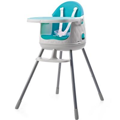 chaise haute transformable en rhausseur multi dine bleu. Black Bedroom Furniture Sets. Home Design Ideas