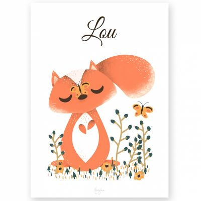 Affiche A4 Les Animignons l'écureuil (personnalisable)  par Kanzilue