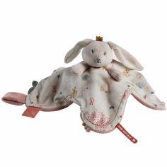 Doudou attache sucette à étiquette lapin Lina & Joy