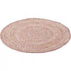 tapis rond warren rose 110 cm nattiot berceau magique. Black Bedroom Furniture Sets. Home Design Ideas