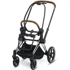 Châssis pour poussette à assistance électrique e-Priam Chrome avec détails marron