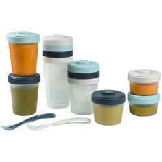 Pack 1er repas avec pots de conservation et cuillères Storm (14 pièces)