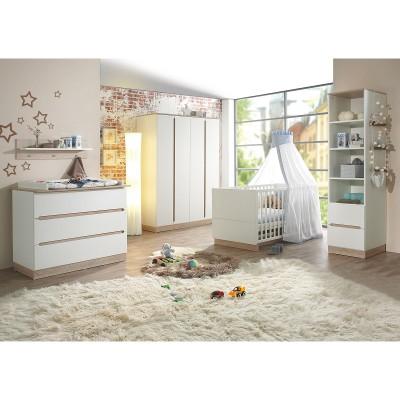 pack trio lit b b commode langer et armoire united. Black Bedroom Furniture Sets. Home Design Ideas