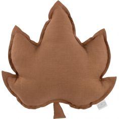 Coussin feuille d'érable chocolat Pure nature (43 cm)