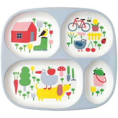 Assiette à compartiments en mélamine La campagne Maison Petit Jour
