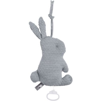 Peluche musicale lapin gris (30 cm)  par Baby's Only