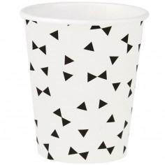 Lot de 8 gobelets en carton Triangle