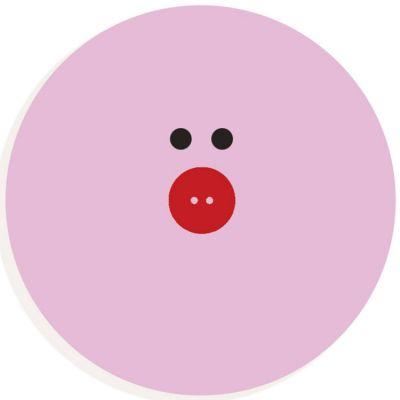 Lettre décorative cochon O (coloris aléatoire)  par Djeco