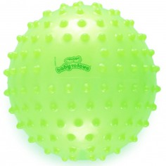 Balle tactile transparente vert lime