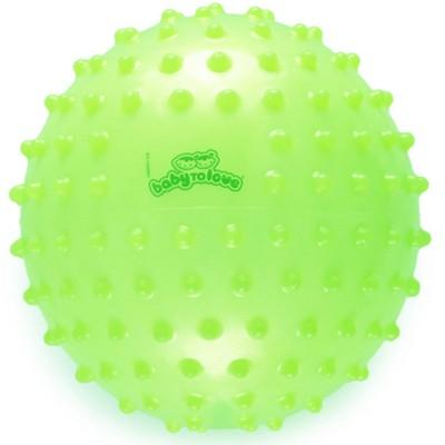 Balle tactile transparente vert lime  par BabyToLove