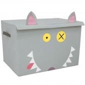 Coffre à jouet caisse de rangement Bigbos Le Loup - Les Déglingos